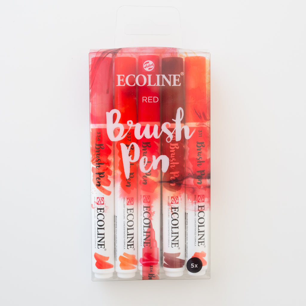 Ecoline brushpen set Red
