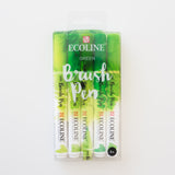 Ecoline brushpen set Green