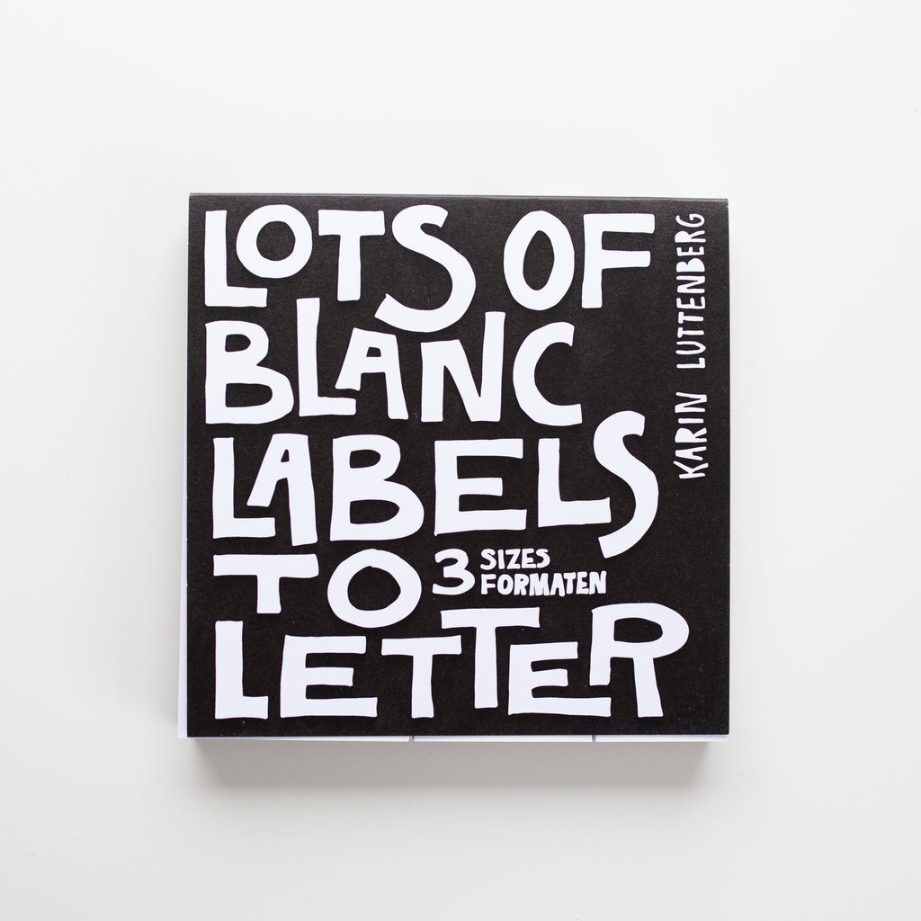 Paperfuel • Labelblok Lots of blanc labels to letter