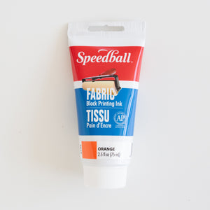 Speedball Fabric Block Printing ink 75ml Orange