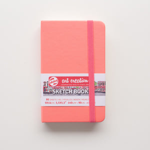 Talens Sketchbook Coral Red 9x14 140g