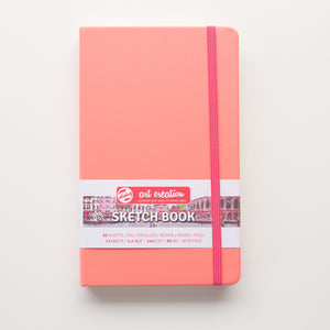 Talens Sketchbook Coral Red 13x21 140g