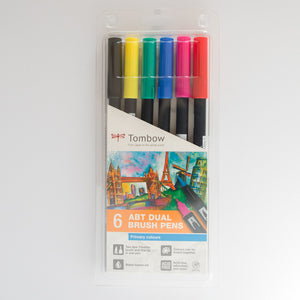 Tombow Dual Brush ABT Set 6 Primary