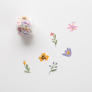 Washi Stickers Meadow Flowers 200pc
