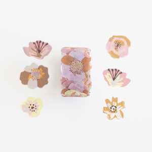 Washi Stickers Straw flowers