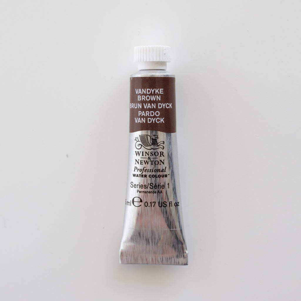 Winsor & Newton Professional Water Colours 5ml Van Dycke Brown 1