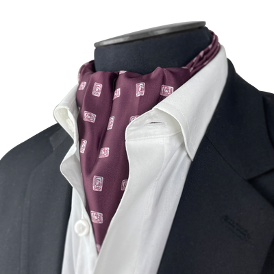 Maroon Diamond Silk Cravat