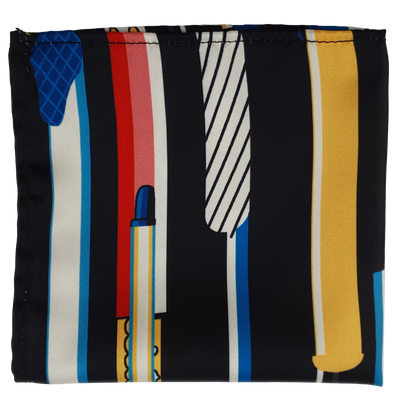 ELECTRIC LIGHTS SILK POCKET SQUARE
