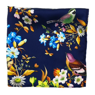 Birds Chirping Silk Pocket Square