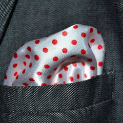 White & Red Polka Dots - Silk