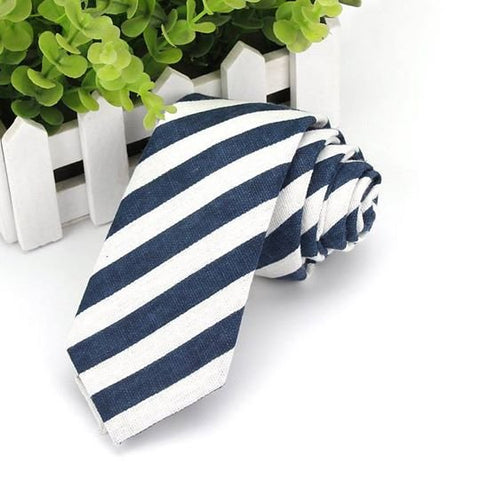 Dark Green Striped - Cotton Tie
