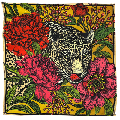 Cheetah Vice Silk Pocket Square