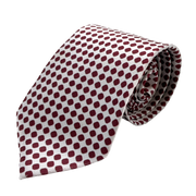 White & Red Dotted Necktie