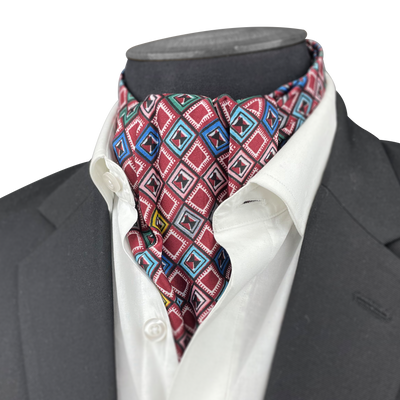 Digital Maze Silk Cravat