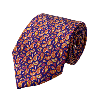 Multi Splash Paisleys Necktie