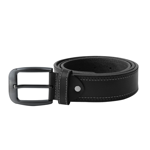 Tongue Buckle Casual Black Belt