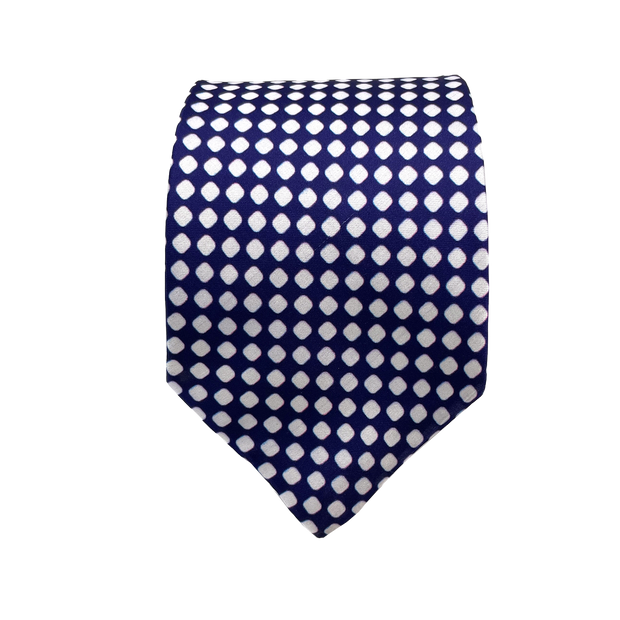 Blue & White Dotted Necktie