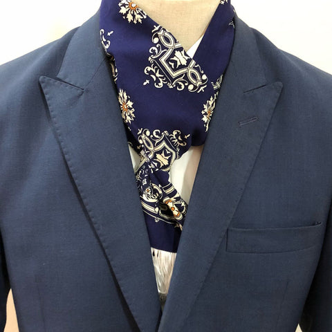 Aesthetic Blue Scarf