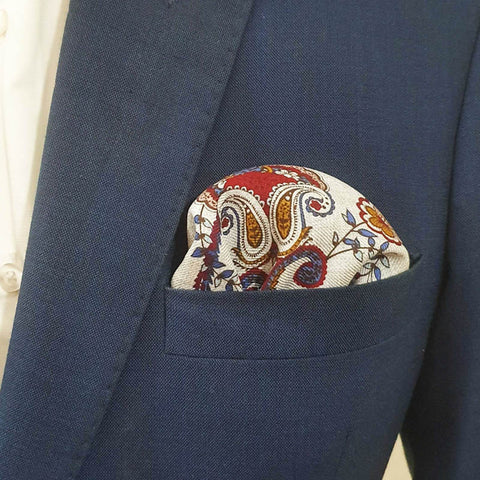 Autumn Hues Pocket Square