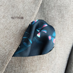 BLOOMING ORCHARD SILK POCKET SQUARE