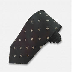 Black Binary Pattern Neck Tie