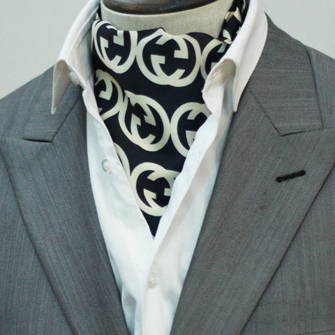 Black Branded Silk Cravats