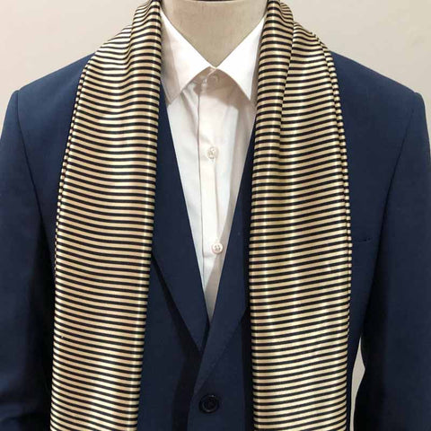 Black & Golden Stripes Scarf