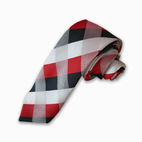 Black & Red Diamond Tie