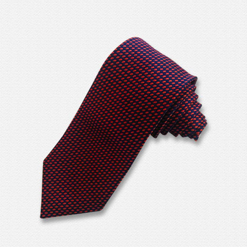 Black & Red Mini Checkered Neck Tie