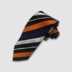 Black & Silver Stripes Tie