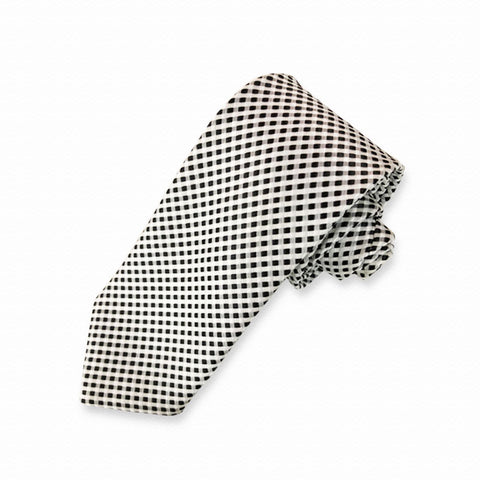 Black & White Mini Checkered Neck Tie
