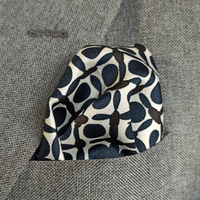 Black and Blue Boxed Silk Pocket Square