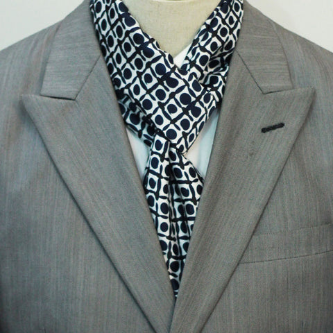 Black and Blue Boxed Silk Scarf