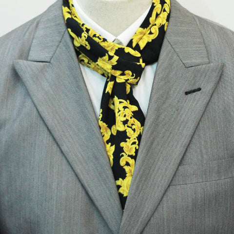 Black and Gold Branded Scarf