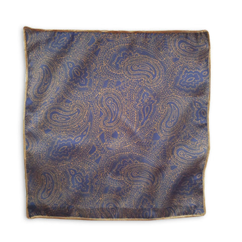 Blue & Golden Paisley