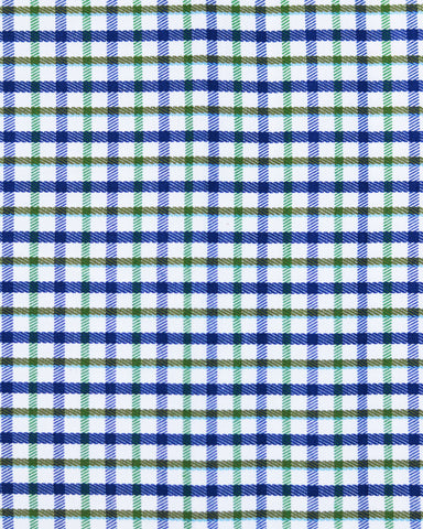 Blue Green and Brown Mini Checks