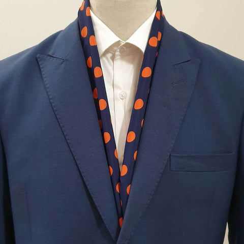 Blue & Orange Polka Dots Scarf