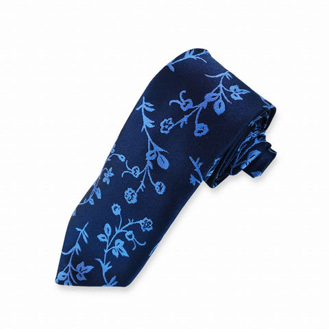 Blue Orchard Neck Tie
