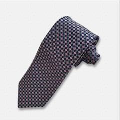 Blue & Pink Pattern Silk Neck Tie