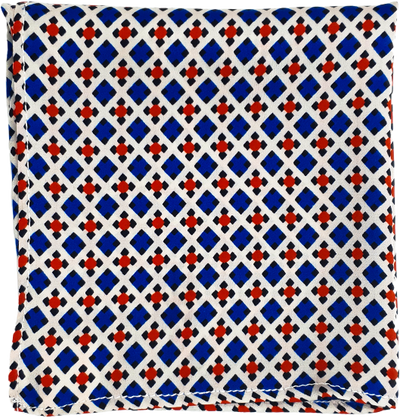 Blue & Red Digital Pocket Square