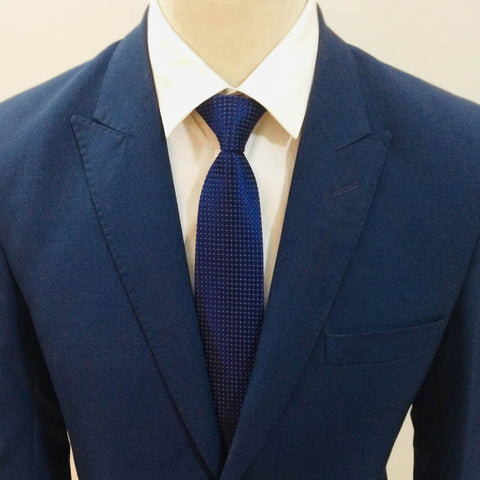 Blue White Pattern Neck Tie