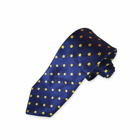 Blue & Yellow Polka Dots Tie