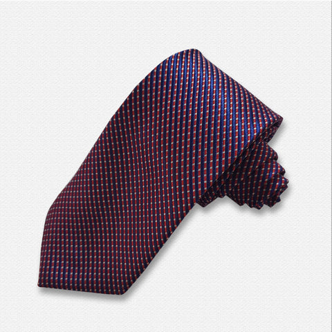 Blue with Purple Pattern Neck Tie