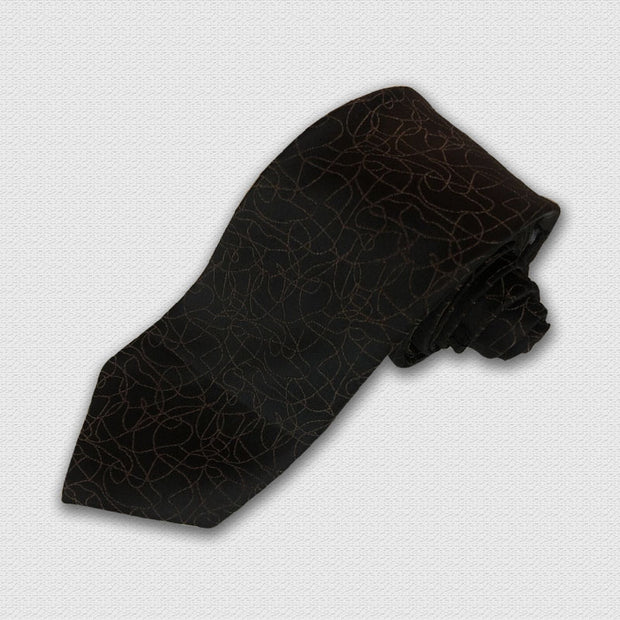 Brown & Black Mosaic Tie