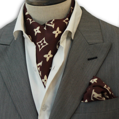 Brown Branded Cravat Set