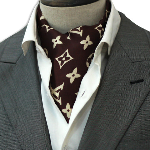 Brown Branded Cravat