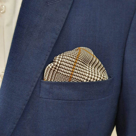 Brown Gold Smith Silk Pocket Square