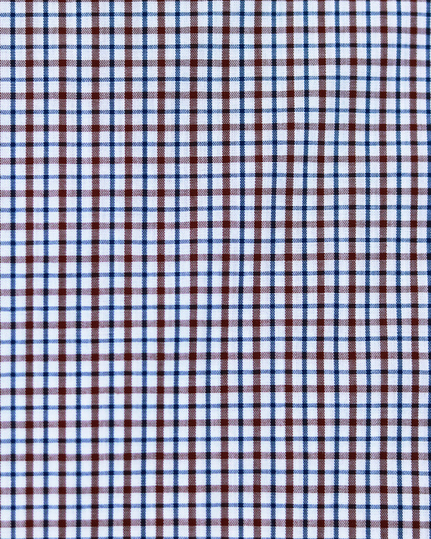 Brown and Blue Mini Checks
