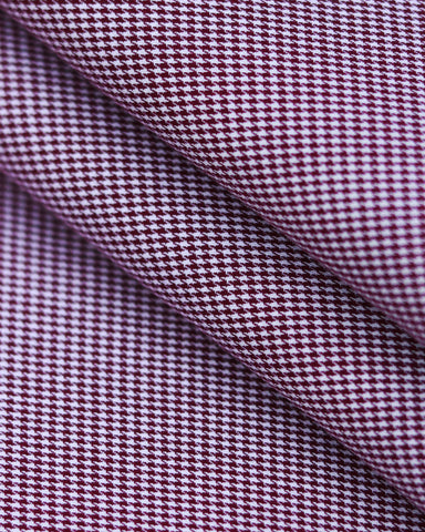 Burgundy Mini Houndstooth