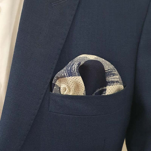 Chicago Blue Boxed Pocket Square